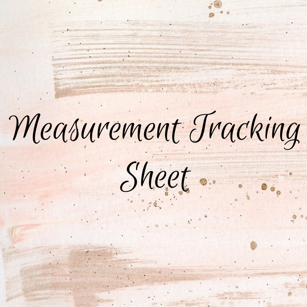 Measurement Tracking Sheet